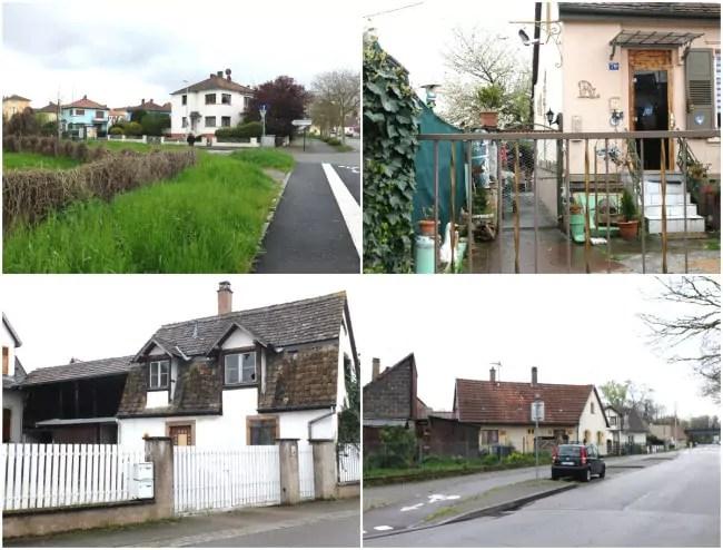 Rue de la Musau, maisons individuelles et petites collectifs de divers époques (Photos MM / Rue89 Strasbourg)