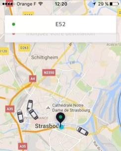 Le nombre de véhicules Uber à Strasbourg augmente doucement