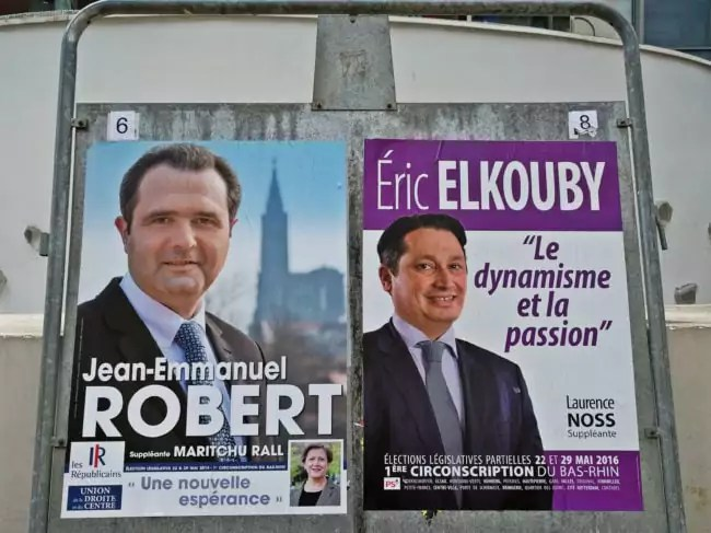 Plus que deux candidats pour un siège de député (photo LG / Rue89 Strasbourg)