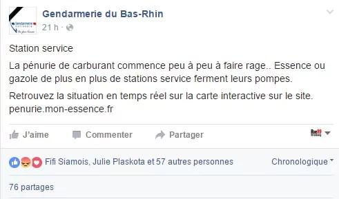 Hier, la gendarmerie bas-rhinoise communiquait sur la situation, de manière légèrement alarmiste.