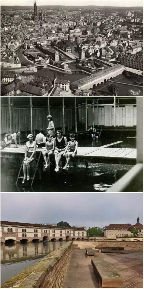 Autour de la tour du Woerthel, des établissements de bains ont fonctionné jusque dans les années 1950 (Doc. ArchiWiki - Photo MM / Rue89 Strasbourg)