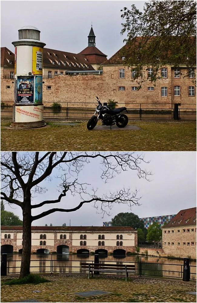 Au bout du quai Turkheim, face au barrage Vauban, se derssait une quatrième tour, détruite en 1869 (Photos MM / Rue89 Strasbourg)