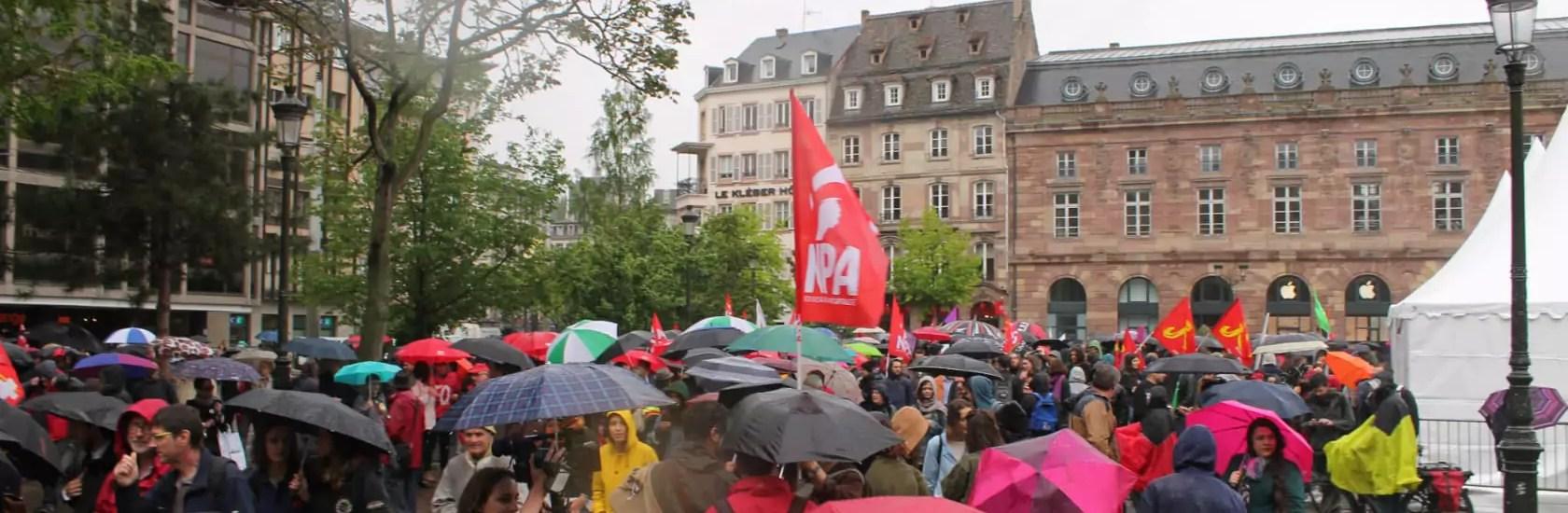 À la manif' contre la loi travail : «Le temps est pourri, le gouvernement aussi !»