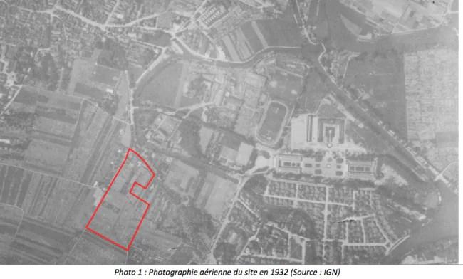 Vue aérienne du Tivoli-Wacken - 1932 (Association Sauvons le Wacken)