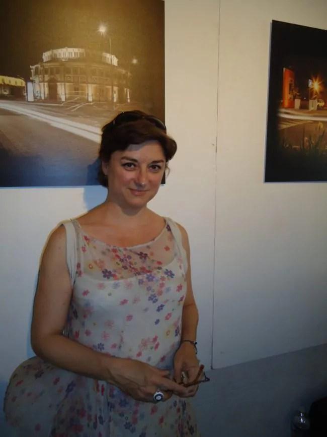 Delphine Crubézy à la Caserne des pompiers (Photo MB / Rue89 Strasbourg)