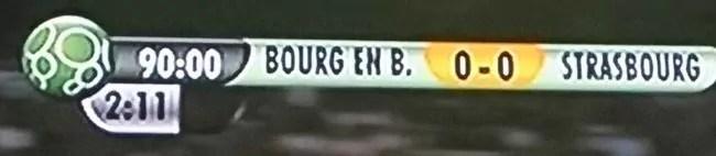 Zéro Zéro entre Bourg et le Racing