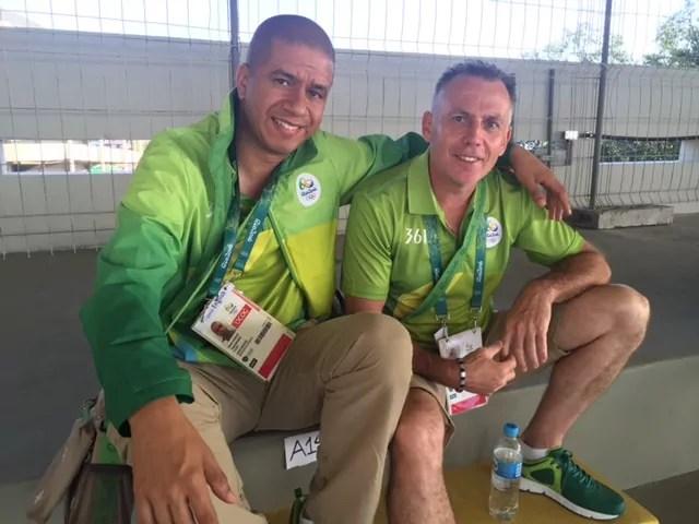 Daniel Ackermann avec son ami brésilien rencontré sur place, Eli Gomes (doc. remis)