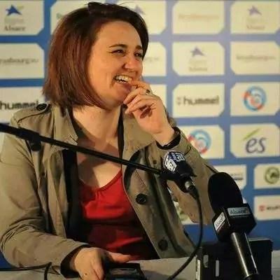 Sur France Bleu Alsace, Lucile Guillotin a été la voix du Racing pendant 10 ans (Photo : document remis)