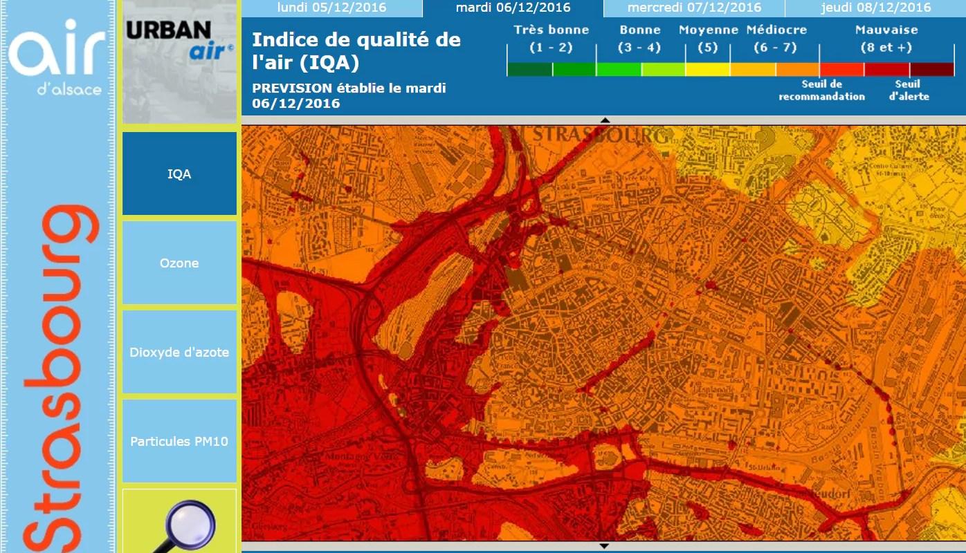 Pollution : troisième jour d'affilée de pollution aux particules fines en Alsace mercredi