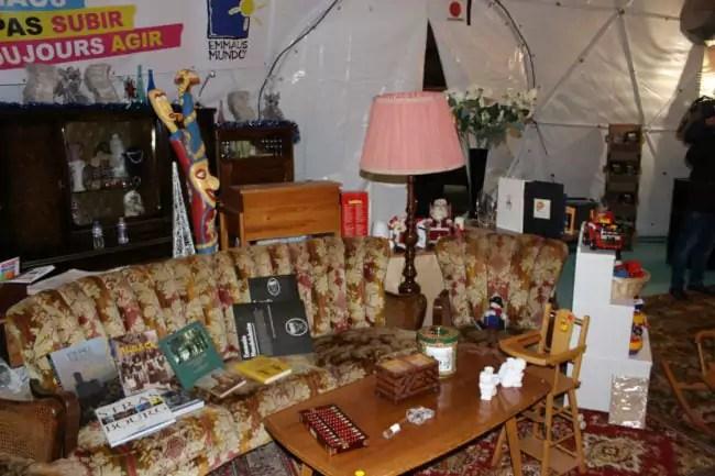 L'intérieur du dôme sera aménagé différemment pour les rencontres et conférences (photo JFG / Rue89 Strasbourg)