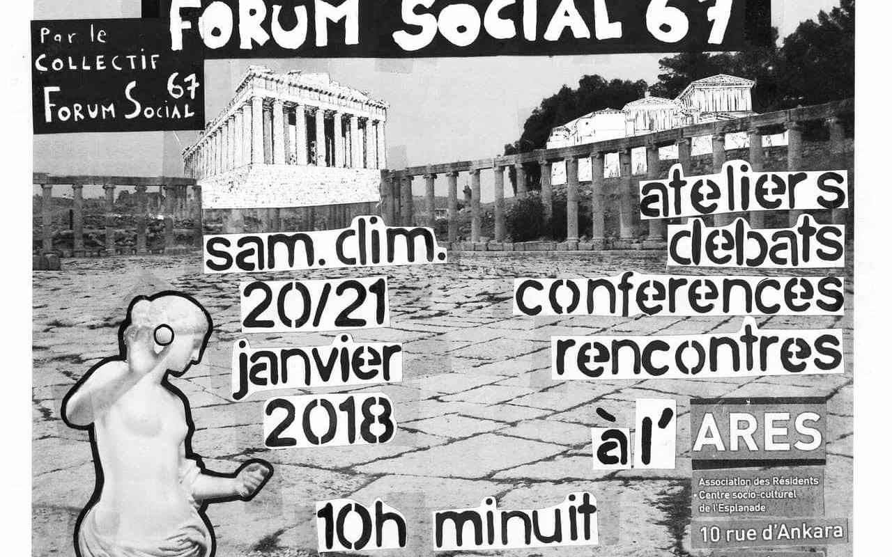 À l'Esplanade, une première édition du «Forum social du Bas-Rhin» ce week-end