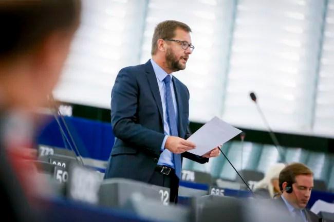 Au Parlement européen, de nombreux députés décrivent Jérôme Lavrilleux comme un fin tacticien. (Photo Mathieu Clugnot / Parlement européen)