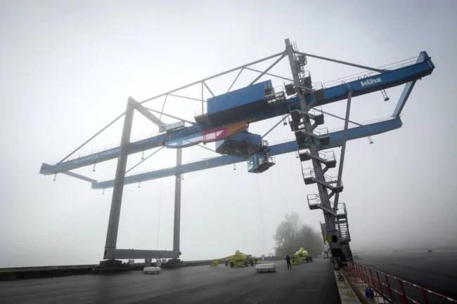 Les conditions de lancement du terminal à conteneurs de Lauterbourg ne sont pour l'instant pas très claires. (Loïc Chalmandrier / Port autonome de Strasbourg)