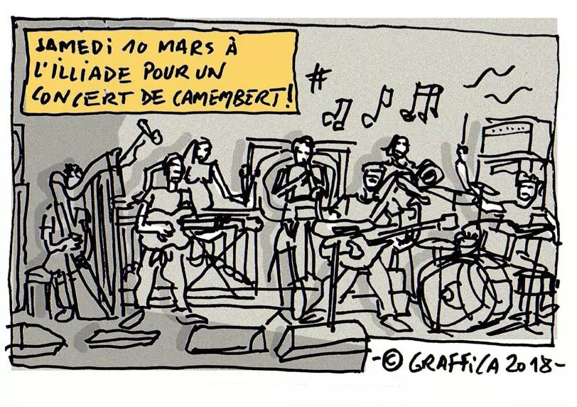 Un concert fermenté de jazz rock progressif à l'Illiade par le groupe Camembert