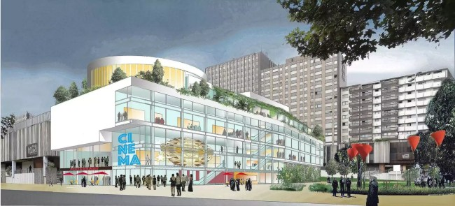Esquisse du projet des Halles, vue depuis le boulevard de Sébastopol (doc remis)