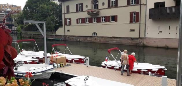 Les bateaux électriques sans-permis pour naviguer sur l'Ill disponibles cet été