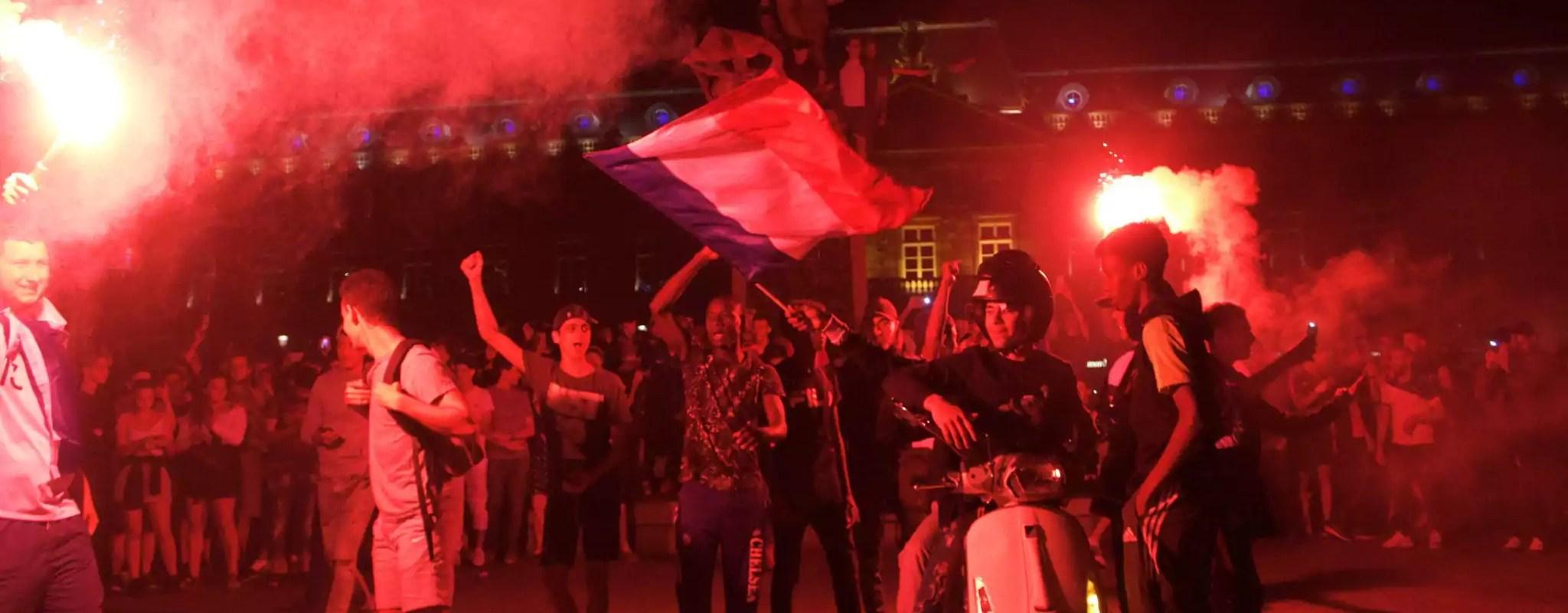 Strasbourg en liesse après la qualification des Bleus en finale de la Coupe du monde