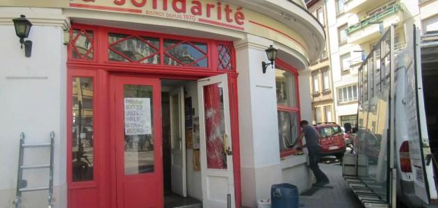 Le bar La Solidarité vandalisé dimanche soir
