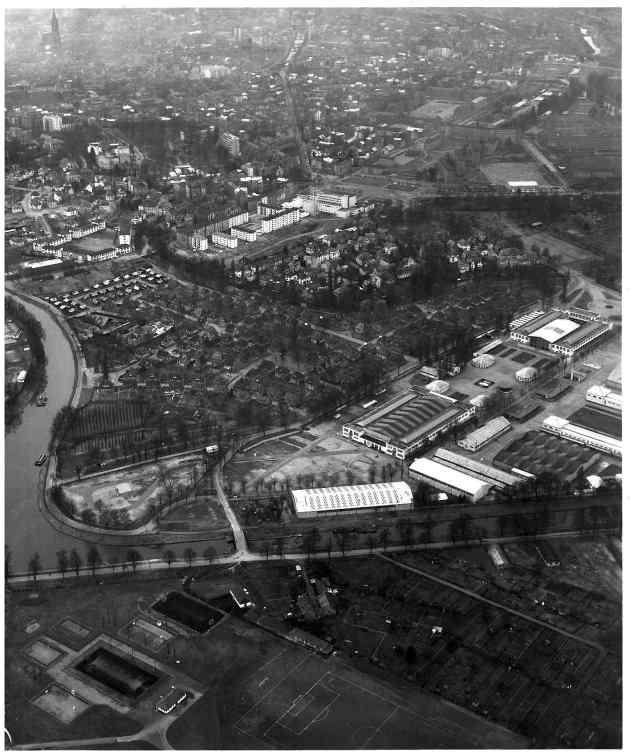 Le Wacken en 1965, avant que le Parlement européen ne soit construit (Archives France 3 Alsace via archi-wiki)