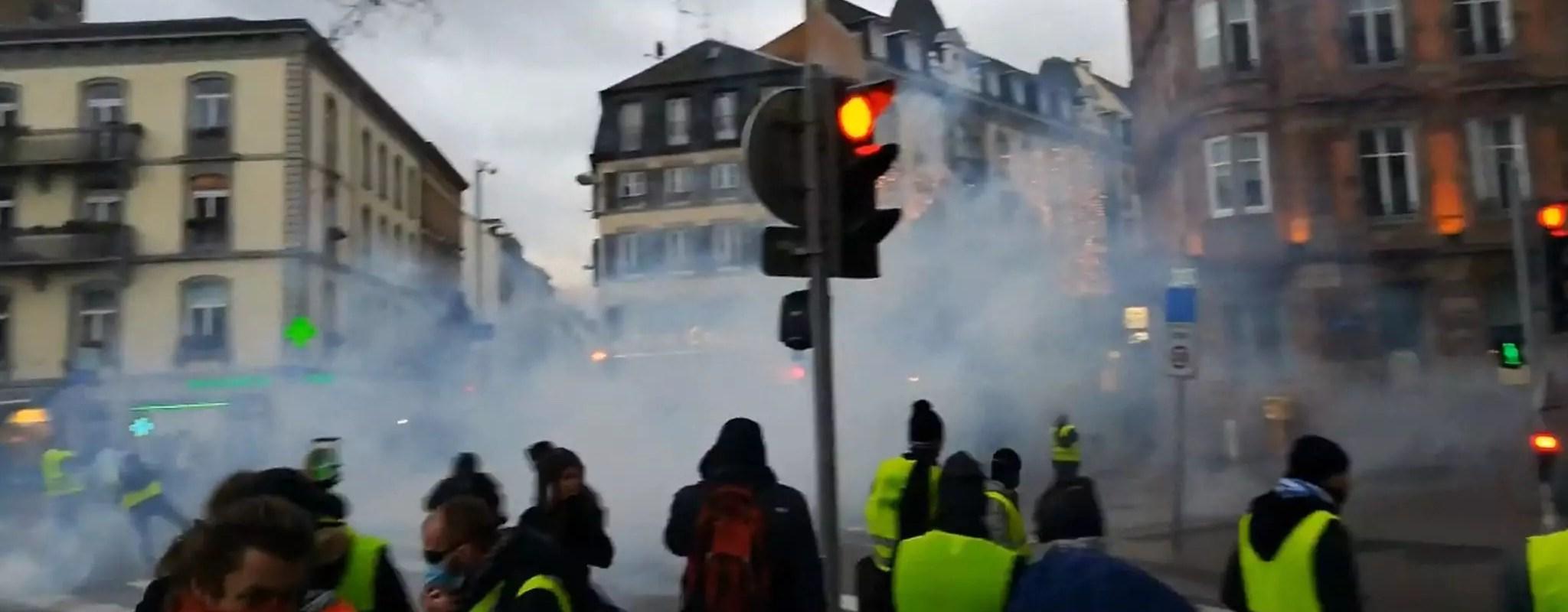 Blessés de l'Acte IX des Gilets jaunes à Strasbourg: de nouvelles vidéos