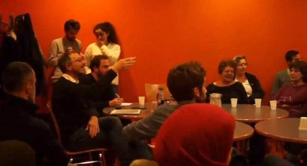 Lors d'une réunion publique à Hautepierre (capture d'écran)