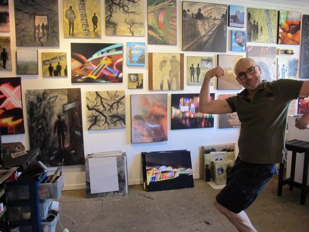 Hervé Petit dans son atelier à Zone d'Art (Document remis / DR)