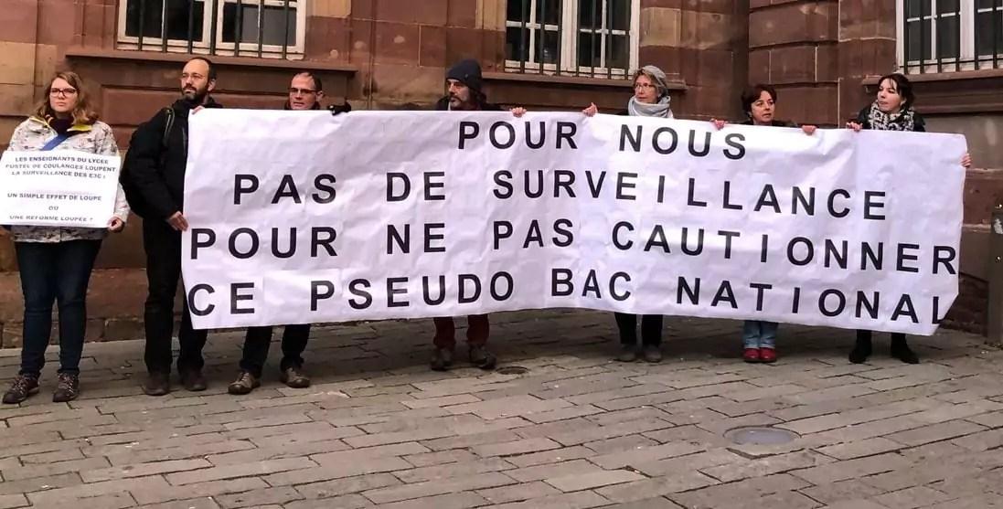Contre une réforme du bac jugée inégalitaire, des profs du lycée Fustel en grève
