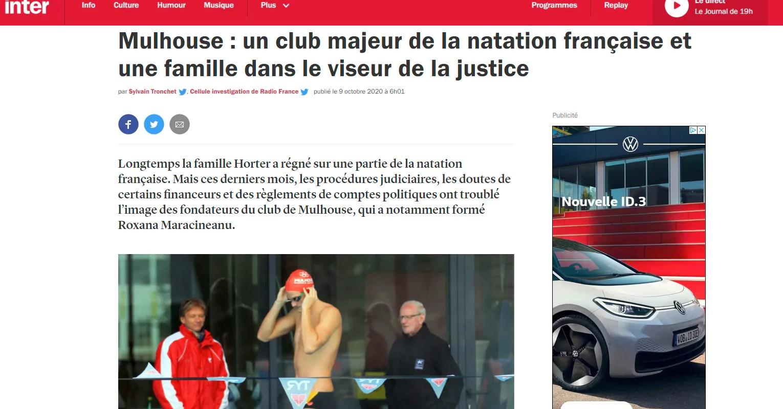Manœuvres financières et politiques au très réputé club de natation de Mulhouse