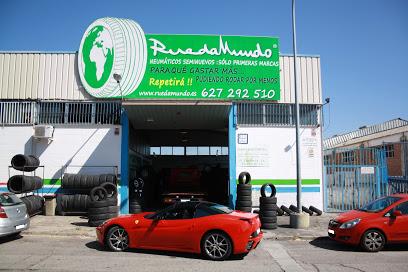 imagen del taller de ruedas nuevas y seminuevas de Coslada, todos los neumáticos disponibles. Imagen real