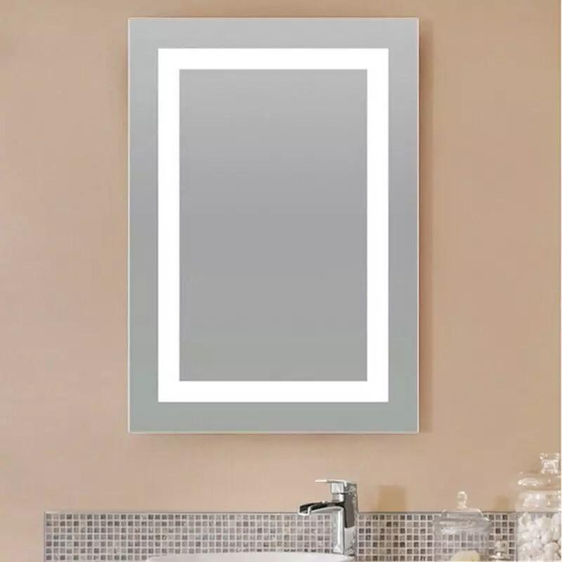 Miroir salle de bain 50x70 cm clairage LED allumage sensitif Connect