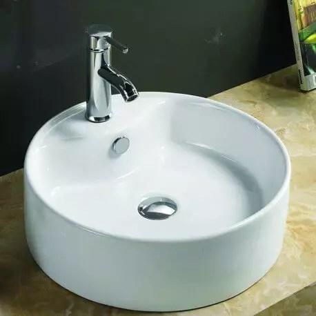 Vasque Ronde A Poser Ceramique Blanche Star Vente Vasques A Poser