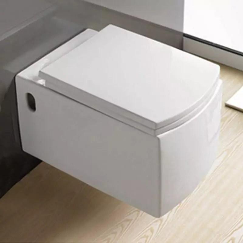WC Rectangle cramique blanc ProfileCuvette WC suspenduRue du Bain