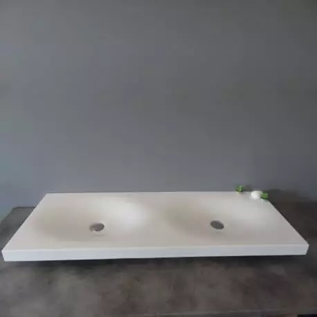 Vasque double robinet lavabo design lavabo suspendu double vasque Epure Rue du bain