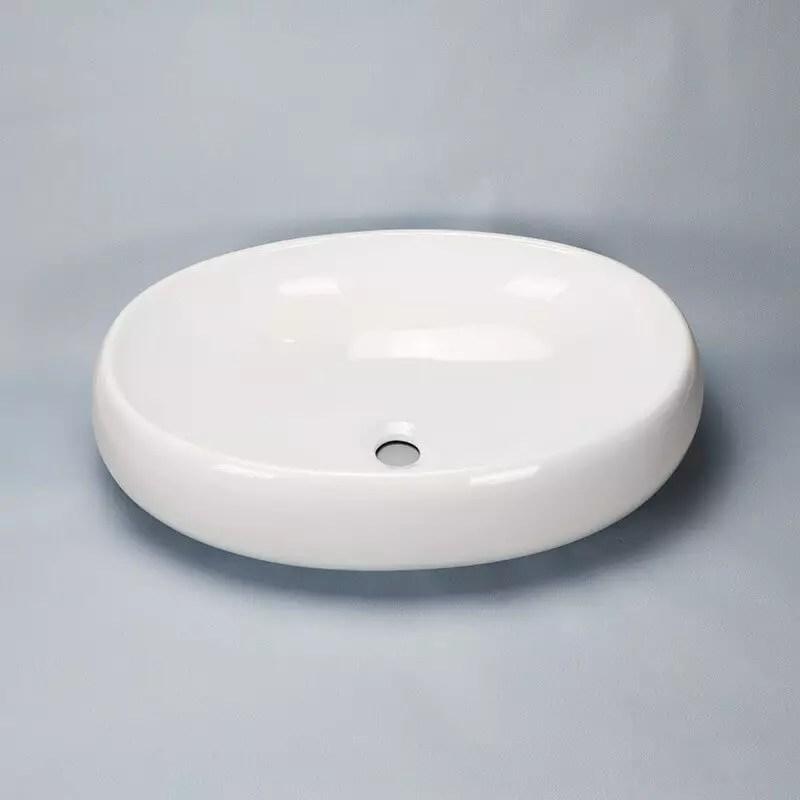 Vasque Cramique Blanche Swann Vasque Poser Ovale