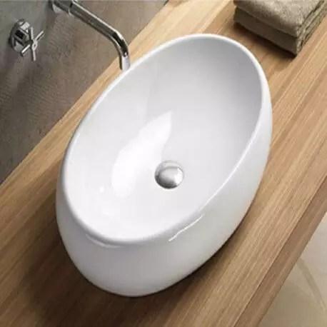Vasque Ceramique Blanche Swann Vente De Vasques A Poser Ovales