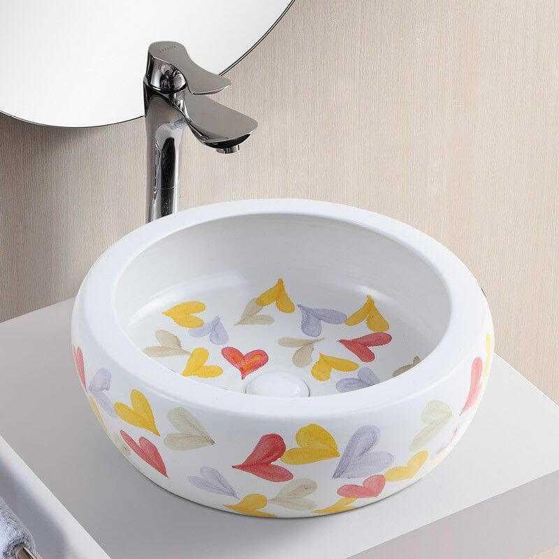 Vasque Cramique Blanc Dcore De Curs PEPs Vasque