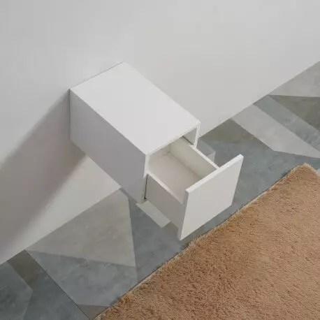 meuble de rangement 1 tiroir facade mdf 19 mm blanc 30x50 cm city