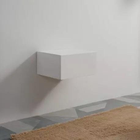 meuble de rangement 1 tiroir blanc facade mdf 19 mm 60x50 cm city