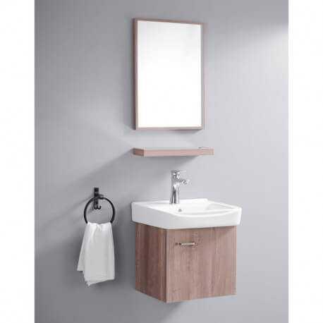 ensemble petit meuble de salle de bain bois 44x36 cm daily