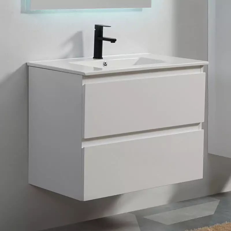 Meuble Suspendu Blanc Salle De Bain Simple Vasque City Rue Du Bain