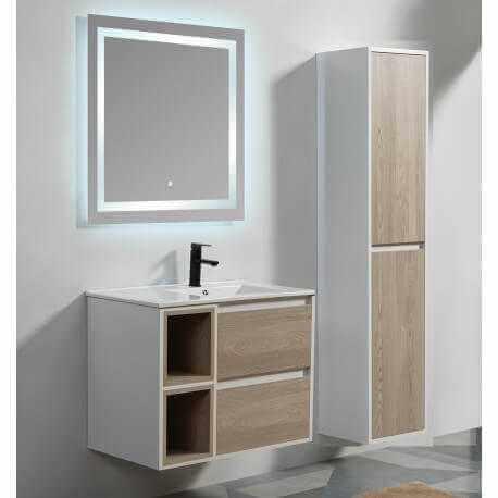 pack meuble suspendu scandinave 80 vasque miroir colonne rue du bain