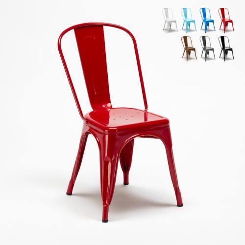 chaise tolix industrielle en acier et metal pour cuisine et bars steel one