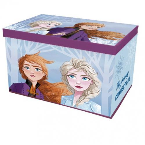 coffre a jouets en tissu pliable la reine des neiges 2 disney