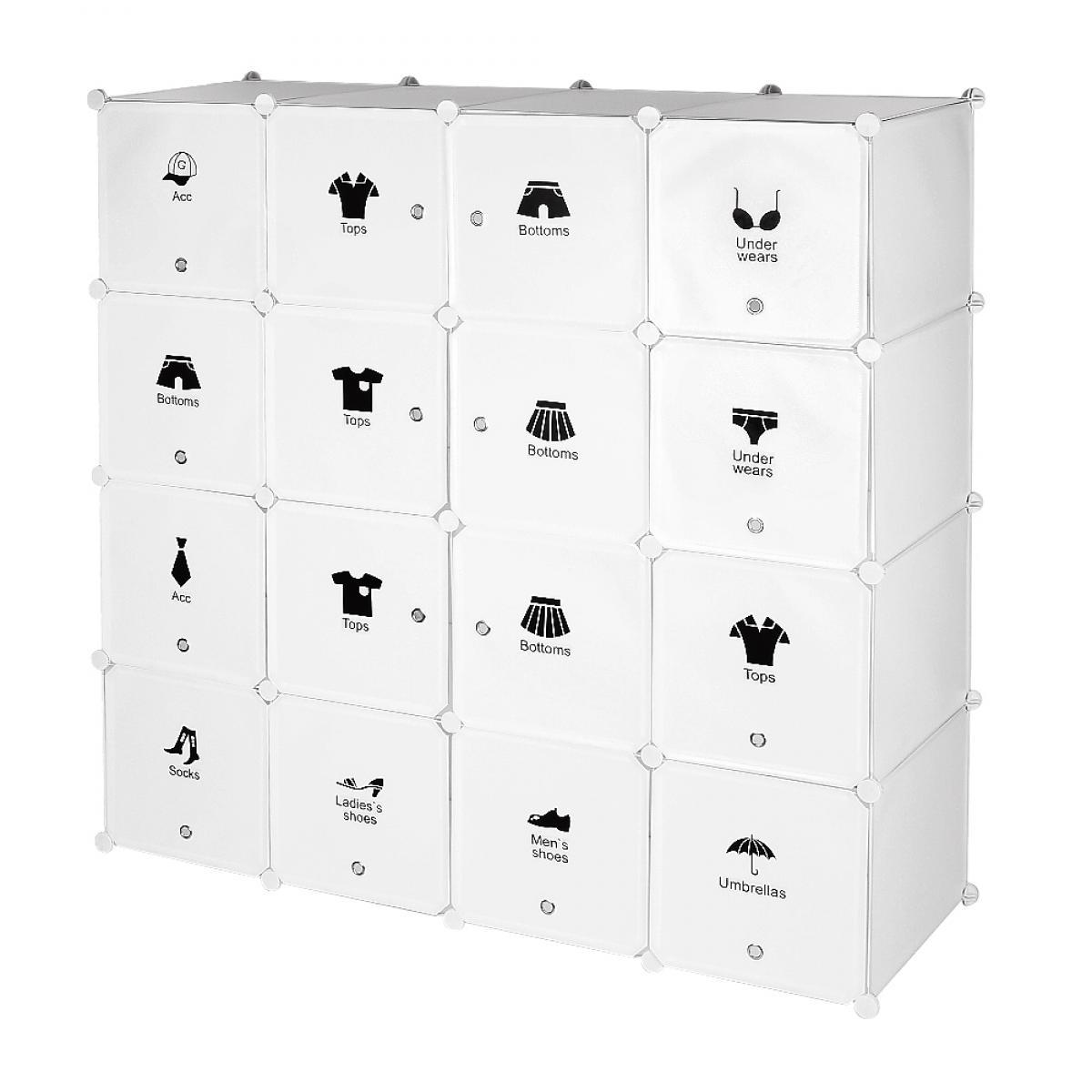 rangement plastique armoire