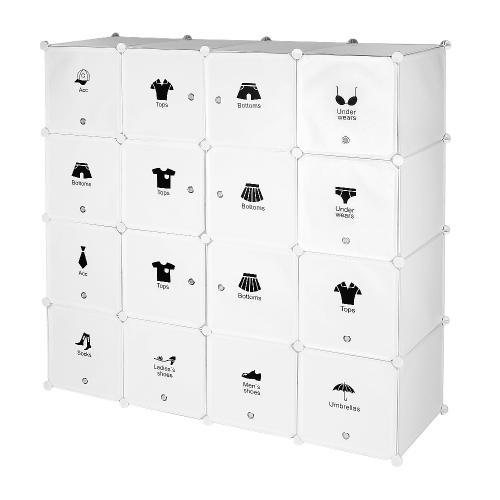 armoires plastiques etagere plastique meuble rangement 16 cubes modulables