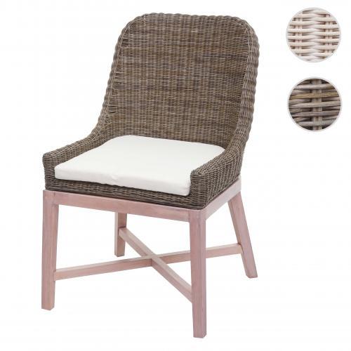 chaise de salle a manger hwc h12 chaise de cuisine osier en rotin bois massif