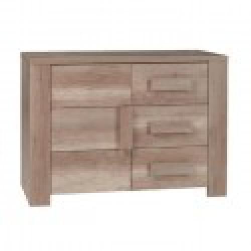 buffet bahut enfilade petit modele farra 1 porte 3 tiroirs meuble ideal
