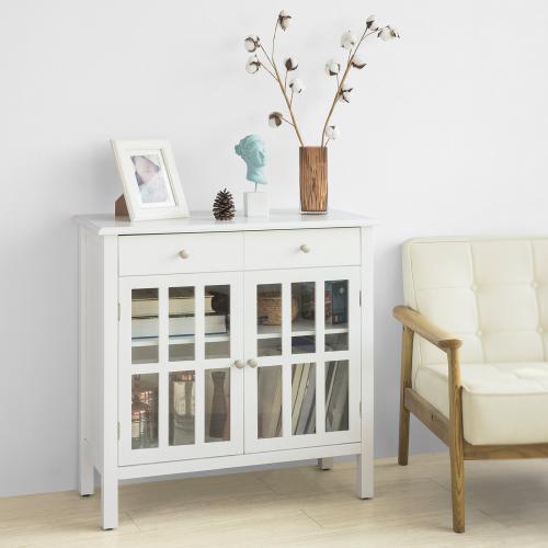 sobuy fsb23 w buffet commode meuble de rangement armoire de rangement pour