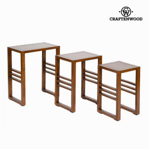 ensemble de tables gigognes en bois d acacia table moderne