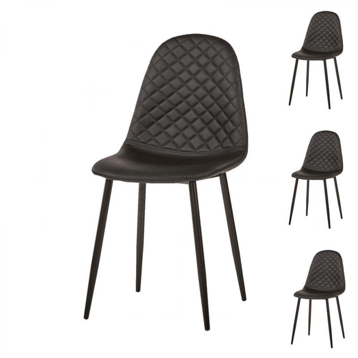 http www deco inspiration com p chaise salle manger cuir noir